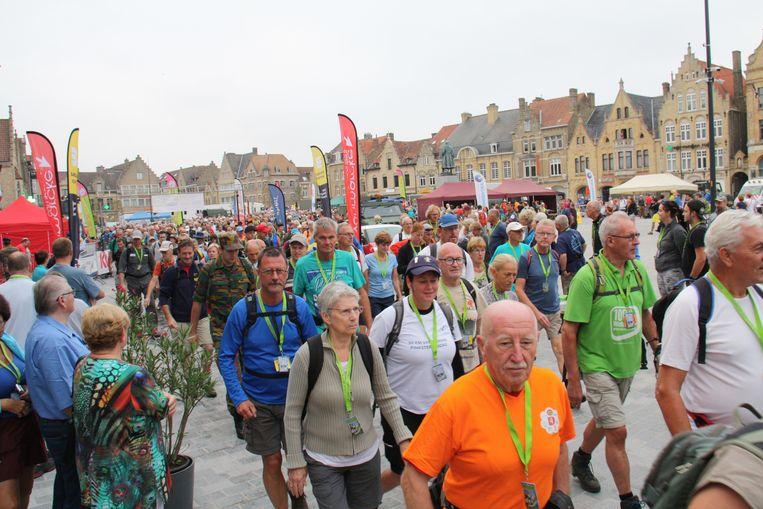 De start in Diksmuide vorig jaar.