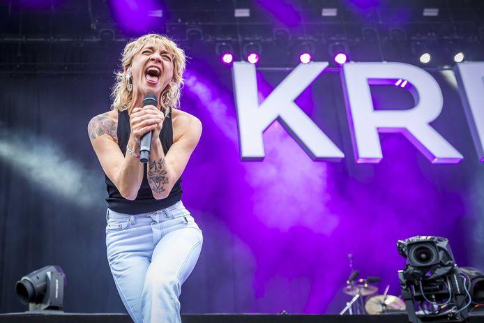 Krezip tijdens een optreden in 2019 bij muziekfestival Pinkpop.