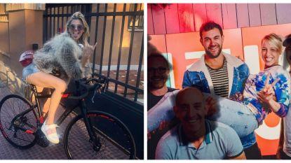 SHOWBITS. Tanja Dexters maakt een fietstochtje en Heidi Van Tielen valt voor cowboy Jan