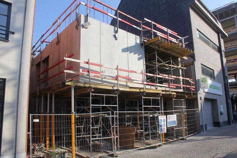 Fuifzaal Cinema is nog volop in opbouw.