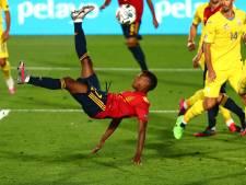 Tiener Ansu Fati excelleert bij winnend Spanje