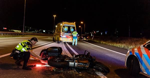 Motorrijder gewond bij ongeval op A58 bij Tilburg.