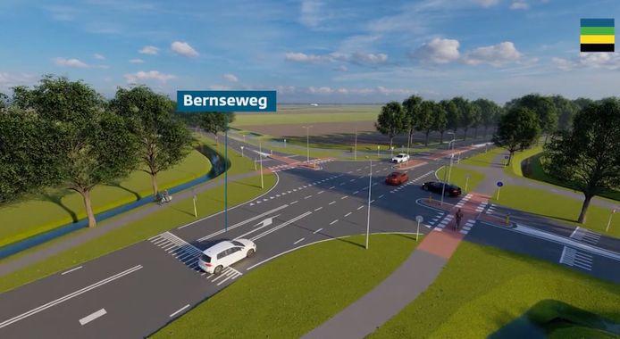Dit had de gemeente Maasdriel heel graag anders gezien: de kruising van de Bernseweg en de Weigraaf bij Well wordt in 2021 nauwelijks aangepast.