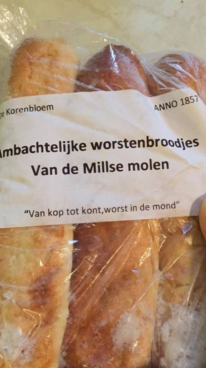 Een bakker uit Mill koos deze opvallende tekst