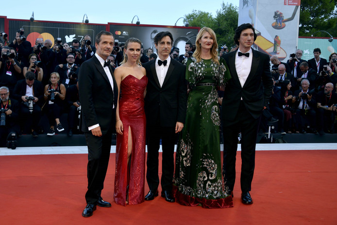 David Heyman, Scarlett Johansson, Noah Baumbach, Laura Dern, Adam Driver.