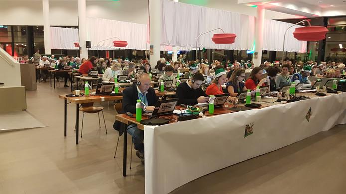 200 telefonisten nemen de nog binnenkomende donaties aan voor Serious Request 2017