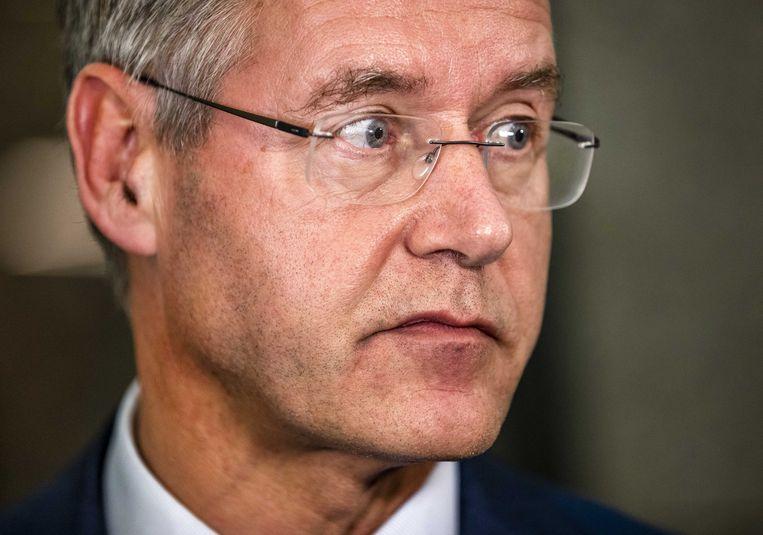 Arie Slob. Minister van Onderwijs zegde het Hagabestuur de wacht aan en wil nu de financiering staken. Beeld Remko de Waal/ANP