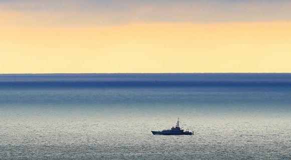 Een patrouilleboot van de Britten op het kanaal, archiefbeeld ter illustratie.