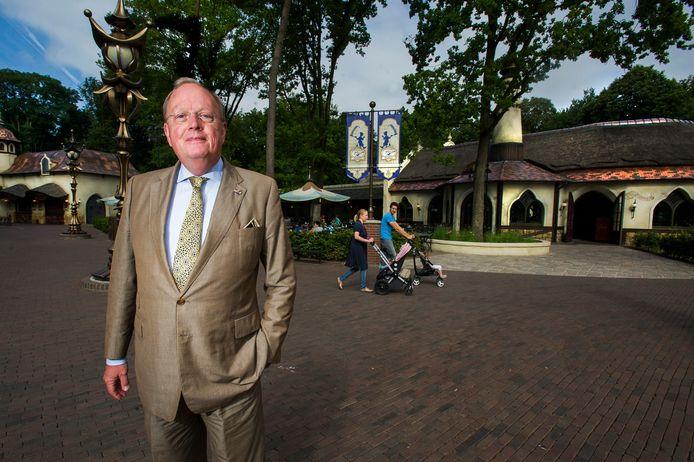 Oud-directeur Bart de Boer in de Efteling. (archieffoto)