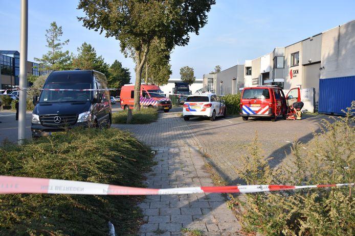 Op het Zoetermeerse industrieterrein is een vermoedelijk drugslab ontdekt.