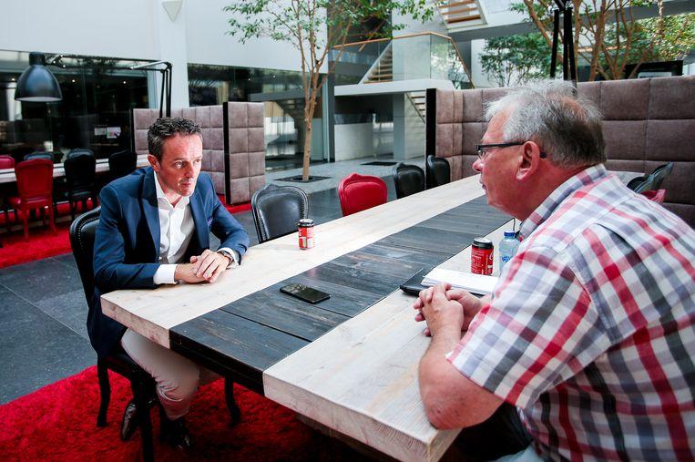 Tim Pots in gesprek met onze journalist, Rudy Nuyens.