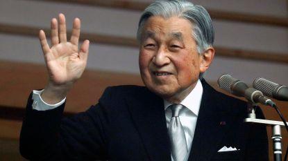 Voormalig keizer Akihito van Japan verliest even bewustzijn