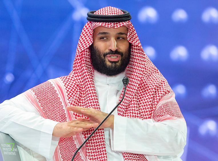 Mohammed Bin Salman: 'Je maakt als leider van een schurkenstaat echt de gekste dingen mee.' Beeld ANP