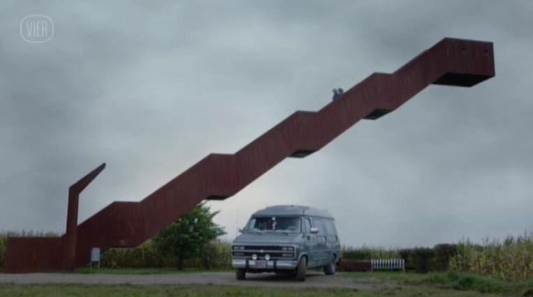 Een beeld van de trap in de serie Callboys.