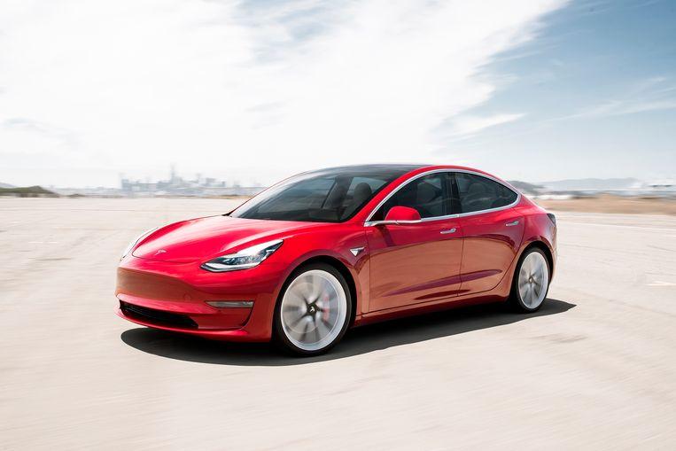 Tesla Model 3 uit 2019. Beeld AP