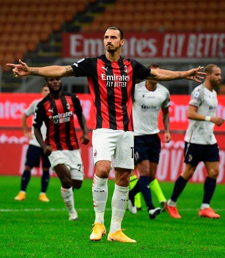 Ibrahimovic, l'éternel, signe un doublé et offre la victoire à l'AC Milan