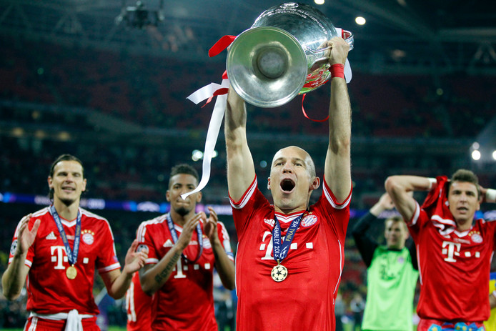 Arjen Robben met de Champions League in 2013.