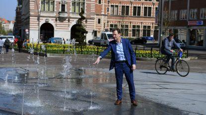 De lente is op komst: fontein op Herbert Hooverplein en water-doe-tuin in Sluispark doen het weer