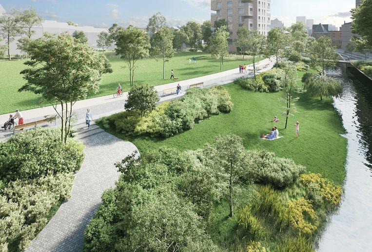 De Leuvense benedenstad zal groen kleuren in de toekomst.
