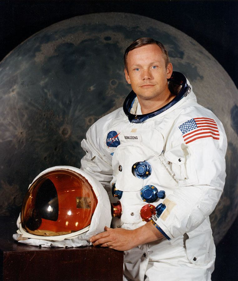 Armstrong in 1969 Beeld AFP