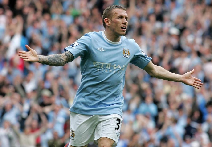 Craig Bellamy in zijn tijd bij Manchester City.