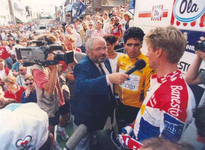 In 1994 was Miquel Indurain gele trui de grote trekpleister. Organisator John Hertogh heeft er heel wat mee meegemaakt. archieffoto BN DeStem