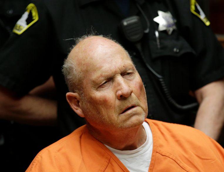 Joseph James DeAngelo tijdens een zitting in de rechtbank van Sacramento eind vorige maand.
