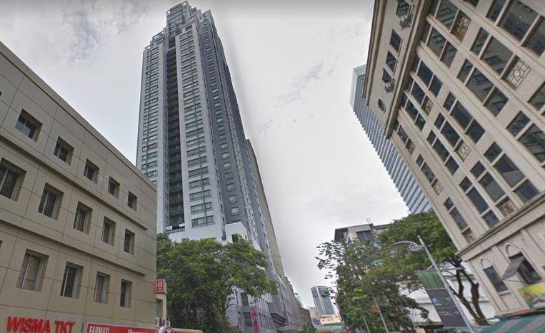 Het appartementsblok in Kuala Lumpur waarvan Ivana donderdagnacht viel.