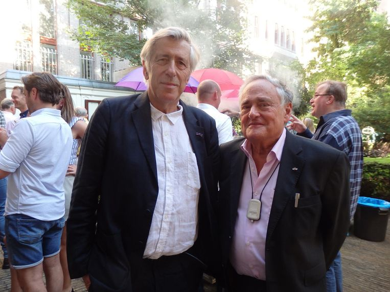 Emeritus-hoogleraren Sven Danner en Bob Pinedo. Danner: 'Oscar heeft het voor een groot deel aan zichzelf te danken dat hij hier nu nog staat' Beeld Schuim