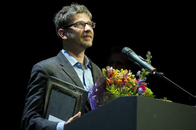 Vlaming Wim Helsen in De Kleine Komedie in Amsterdam. Hij is winnaar van de Poelifinario, de cabaretprijs voor die theatermaker met het meest indrukwekkende programma van het seizoen. Beeld anp