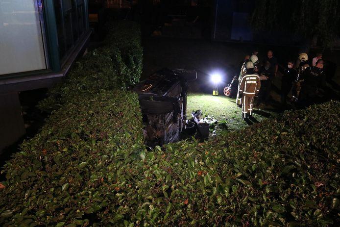 Ongeval Denderwindeke - Koen Baten - 6 september 2020 - twee inzittenden - gewond - Edingsesteenweg.