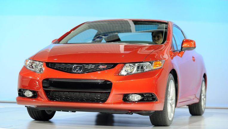 Een (nieuwe) Honda Civic op een autoshow in New York. © EPA Beeld