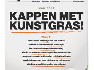 Onderteken hier het pamflet tegen kunstgras in de eredivisie!