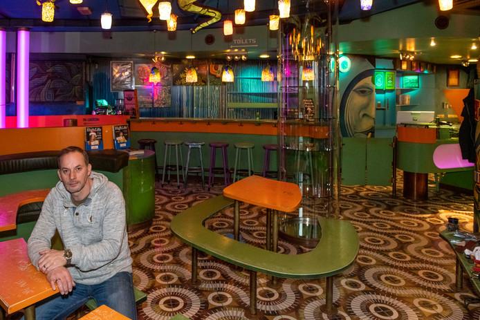 Dimitri Breeuwer in het voormalige pand van coffeeshop Checkpoint.