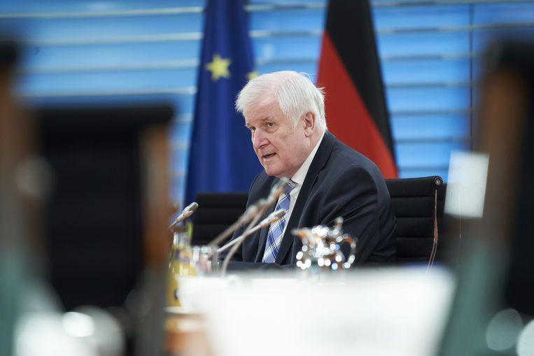 Duits minister van Binnenlandse Zaken Horst Seehofer.
