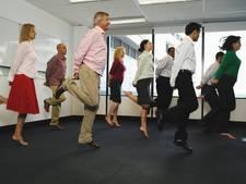 Werknemers gamen zich fit