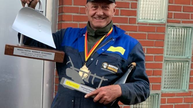 Geen boer, maar wel beste ploeger van het land: Marnix Stockman (70) is Belgisch kampioen 'rondgaand ploegen'