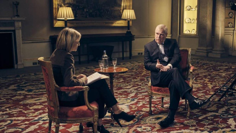 Prins Andrew tijdens het BBC-interview