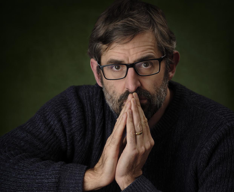 Louis Theroux: 'Ik bevind me precies op de plek waar ik wil zijn'.