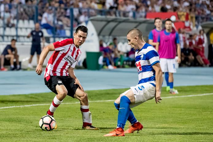Hirving Lozano kon in zijn eerste duel voor PSV geen potten breken.