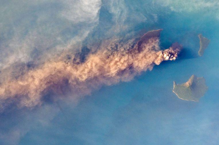 Deze foto van de vulkaan werd al op 24 september genomen vanuit het ruimtestation ISS.