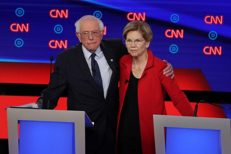Senatoren Bernie Sanders en Elizabeth Warren zijn kandidaten bij de Democratische voorverkiezingen.