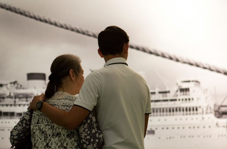 Een foto uit de tentoonstelling in het Migratiemuseum. Beeld Henriette Guest - Stichting Tong Tong