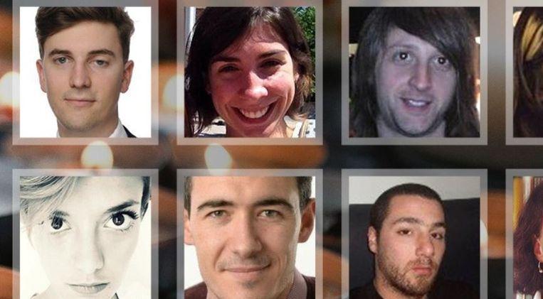 Een deel van de slachtoffers van de aanslagen in Parijs. Beeld CNN