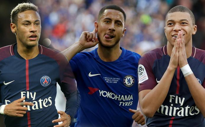 Neymar, Hazard en Mbappé.