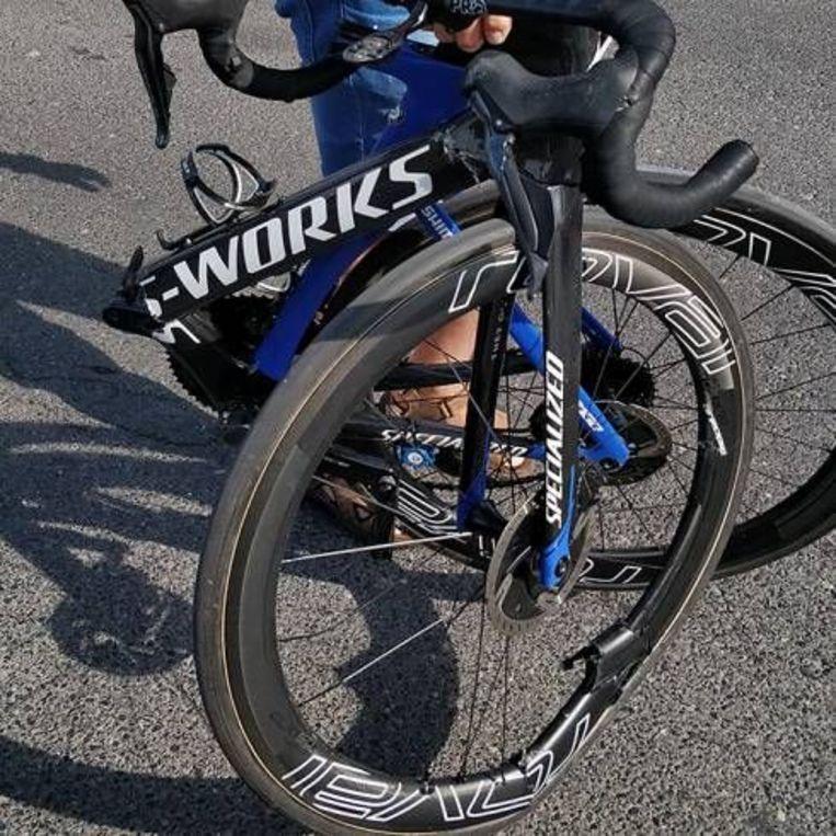 De gebroken fiets van Kasper Asgreen.
