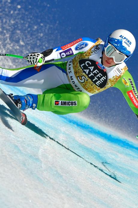 Stuhec weer de beste in super-G, Jansrud laat Noorse skifans juichen