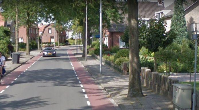 De overlast veroorzakende bomen, zoals rechts op de foto, aan de Larenseweg zijn inmiddels gekapt. Nu worden de trottoirs vervangen