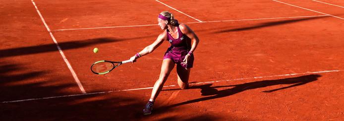 Kiki Bertens tijdens Roland Garros.
