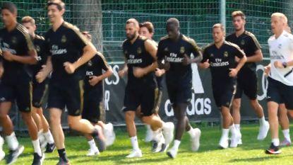 Courtois en Hazard werken eerste training af bij Real